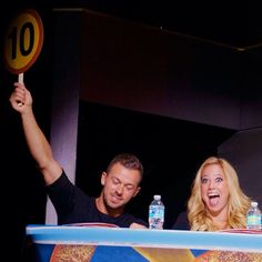 A mighty 10 from him! Artem & Sabrina judging Guest Competition Round 2 #DWTSAtSea - pic credit: @popularcruising