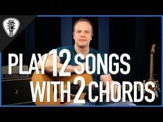 Learn how to play 12 popular songs on the guitar with only 2 simple guitar chords in this guitar lesson for beginners. Guitar Lessons For Kids, Guitar Songs For Beginners, Guitar Chords For Songs, Guitar Tips, Box Guitar, Music Guitar, Guitar Room, Jazz Guitar, Piano Lessons
