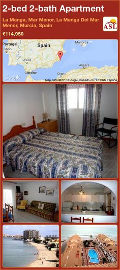 2-bed 2-bath Apartment in La Manga, Mar Menor, La Manga Del Mar Menor, Murcia, Spain ►€114,950 #PropertyForSaleInSpain