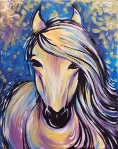 Paint Nite Grace horse painting