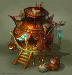 fantasy house by Catell-Ruz.deviantart.com