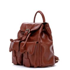 Mini Brown Fresh Preppy Style Soft Calfskin Leisure And Travel Backpacks for Girls(Free Shipping)