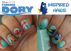 cool Die Suche nach Dory Inspired Nails