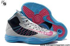 Sale Cheap Nike Lunar Hyperdunk 2013 Wolf Grey Thunder Blue Pink Shoes Store