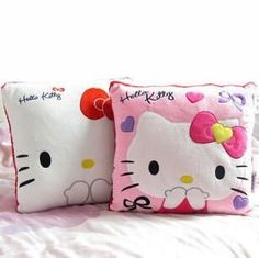 35*35CM Super Kawaii Hello Kitty Pillows Soft Back Cushion Stuffed Plush Toys Baby Love Very Good Quality Special Offer NT048E