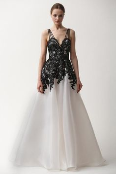 Naeem Khan pre-fall 2015 dress / gown with gorgeous lace and tulle.
