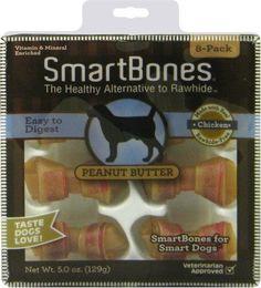 DOG TREATS - ALL OTHER - SMARTBONES PEANUT BUTTER MINI - 8 PACK