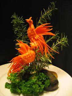 Vegetable Bird Carving