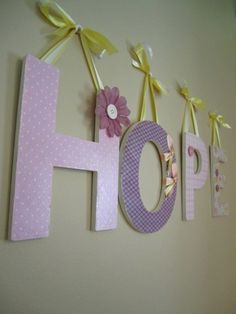 Letters To Hang On Wall princess nursery. baby girl letters. butterflies. baby letters