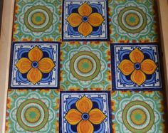 Add a special touch to any area or project with these unique beautiful Mexican tiles.    Size: 4 x4 inch    -You can choose the same design or you can choose any other design that appear on this store to complete the amount of tiles you want.  -If you want less or more tiles please tell me and I will gladly prepared a custom box with designs that tell me.  ------------------------------------------------------------------------------------------------------------------------------  -These…