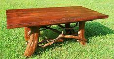 Tree Trunk Rustic Wood Coffee Table Log Cabin Adirondack Furniture FREE SHIPPING #Rustic