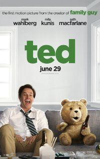 Ted (US 2012) - A 35-year-old man lives with his teddy bear who came to life as the result of a childhood wish. He also lives with his gorgeous girlfriend who is fed up with the foul-mouthed, gong-smoking, skirt-chasing bear. I think this would be a great feel-good date movie for guys who refuse to grow up and the gulls who love them. 1.5 stars.