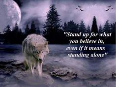 I have my pack I am loyal, but I also honor my very personal values. Yep, I am a lone wolf...