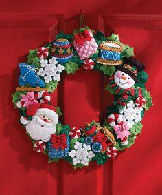 Christmas Toys Wreath Kit by Bucilla #zulily #zulilyfinds