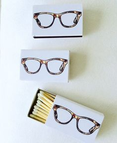 TORTOISE GLASSES Matchboxes by annechovie on Etsy
