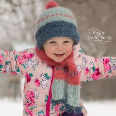 """SCARF and HAT """"Peacock Ore"""" Knitting Pattern PDF, Flat and Round Versions. for Preemie up to Adult. Written in English Drops Patterns, Lace Patterns, Cool Patterns, Knitting Patterns Free, Free Knitting, Free Crochet, Crochet Patterns, Drops Kid Silk, Drops Baby"""