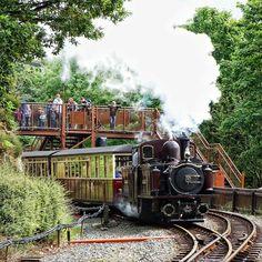 Merddin Emrys departing Tan y Bwlch station. by jonathanswllms Uk Rail, Heritage Railway, Steamers, Steam Locomotive, Train Travel, Water Tank, Travel Style, Railroad Tracks, Exterior Design