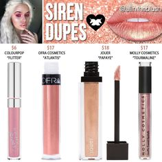 (@allintheblush) on Instagram: ✨SIREN DUPES✨ by Lime Crime