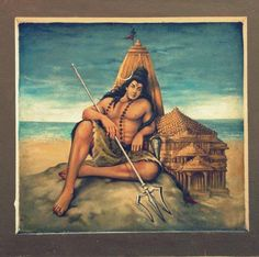 Shiva Art | ... TEMPLE), AROLI, KANNUR, KERALA: Lord Shiva at Somnath, a beautiful art