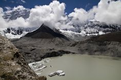 Imja  Lake And  Glacier