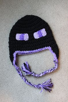 Handmade Earflap Hat Minecraft Enderman by ASpottedHippo on Etsy, $25.00