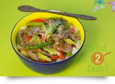 Sweet & Sour Beef, capsicum, ginger & chilli: A healthy Asian beef stir-fry, perfect for a fast evening meal Asian Beef Stir Fry, Sweet And Sour Beef, Evening Meals, Main Meals, Asian Recipes, Fries, Meat, Vegetables, Meal Ideas