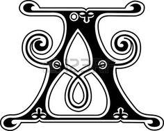 Estilo cl�sico, letra del alfabeto Ingl�s A, monocromo photo