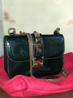 c5108bff6 Valentino Garavani Rockstud Glam Lock Mini Bag Leather Forest Green