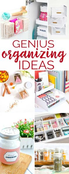Genius Organizing Ideas Who's ready to get organized? Try these genius organizing ideas to help you get control of your chaos! Office Supply Organization, Organization Hacks, Organizing Ideas, Organizing Office Supplies, Storage Hacks, Organising, Storage Solutions, Spice Jar Labels, Pantry Labels