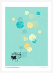 Memories, like bubbles - Art print