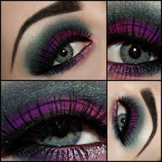 Charcoal and purple