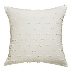 Cute Bows Off-White Cushion Cover 45x45cm by HupperStore on Etsy