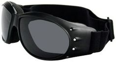 876f2dd52114 Bobster Cruiser Motorcycle Goggles with Black Frame and Anti-Fog Reflective  Lens