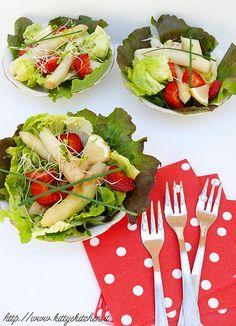 Italian recipes...    Insalata di asparagi bianchi e fragole al balsamico