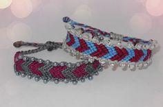 Macrame chevron bracelets with beads Chevron Bracelet, Friendship Bracelets, Beads, Jewelry, Beading, Jewlery, Bijoux, Schmuck, Bead