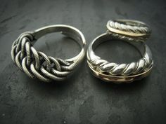 Traditional latvian silver rings