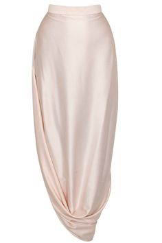 Blush pink papillion printed high low cape with cowl skirt available only at Pernia's Pop-Up Shop.