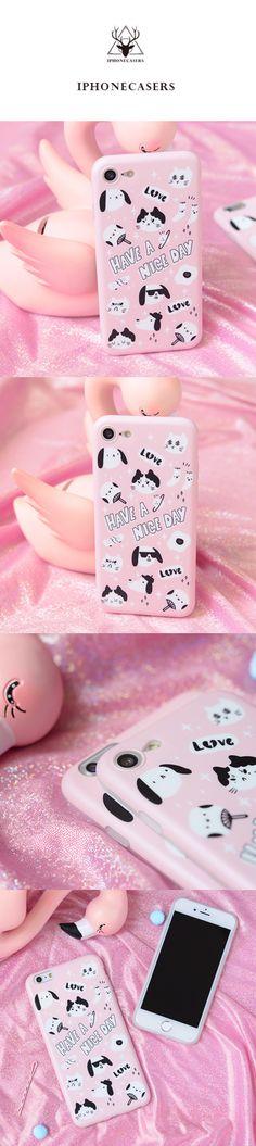 Phone case cute pet pink cat Animal Tumblr iPhone 6,6s,6plus,6s plus,7,7plus,8,8plus
