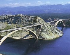 Titov bridge in Krk connecting the island of Krk to the mainland Croatia by Ilja Stojadinovic