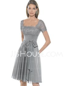 Prom Dresses - $129.99 - A-Line/Princess Scoop Neck Knee-Length Chiffon  Charmeuse Prom Dresses With Ruffle  Lace (018005084) http://jjshouse.com/A-line-Princess-Scoop-Neck-Knee-length-Chiffon--Charmeuse-Prom-Dresses-With-Ruffle--Lace-018005084-g5084