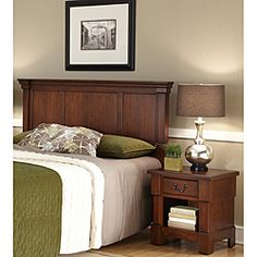 online shopping for Aspen Rustic Cherry King Headboard & Night Stand Home Styles from top store. See new offer for Aspen Rustic Cherry King Headboard & Night Stand Home Styles Rustic Master Bedroom, Queen Bedroom, Wood Bedroom, Bedroom Furniture Sets, Bedroom Sets, Rustic Furniture, Bedrooms, Bedroom Decor, Full Headboard