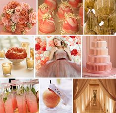 coral, peach and gold wedding Coral Gold Weddings, Coral Wedding Themes, Wedding Color Schemes, Wedding Colors, Wedding Flowers, Wedding Decorations, Colour Schemes, Taupe Wedding, Peach Weddings