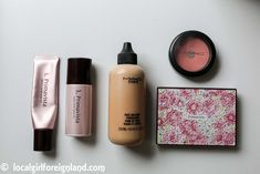 My Holy Grail complexion products (over 30): Sofina Primavista multi cover base UV, Sofina Primavista long keep base UV, MAC face and body foundation, MAC blush, Primavista powder foundation