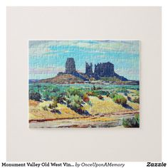 Monument Valley Old West Vintage Jigsaw Puzzle