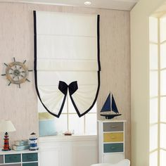 Potential Octagon Window Covering Style - Use external mounted Roman with fan bottom Cheap Curtains, Door Curtains, Kitchen Curtains, Window Coverings, Window Treatments, Octagon Window, Flat Shapes, Textiles, Shades Blinds
