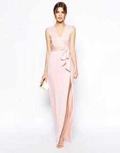 ASOS Sleeveless Kimono Wrap Maxi Dress