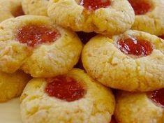 Coconut Shortbread Jam Drops