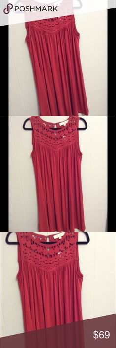 NWT LOFT Dress M New with tags. Loft dress. Size Medium. Pretty burnt orange color. From a smoke free home. LOFT Dresses