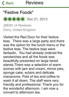Review Of Festive Afternoon Tea At The Red Door Country House, Fahan,  Inishowen,