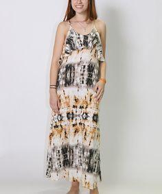 Look what I found on #zulily! Shoreline Coffee Tie-Dye Tiered Maxi Dress - Women by Shoreline #zulilyfinds
